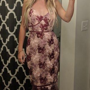 Lulu's Endless Elegance Mauve Multi Lace Bodycon